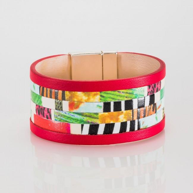brazalete nelumbo  bit jungle pulseras de plata y cuero slow fashion artesanía