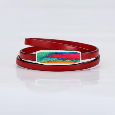 Vista frontal de una pulsera vuelta acabada de la colección Splash.