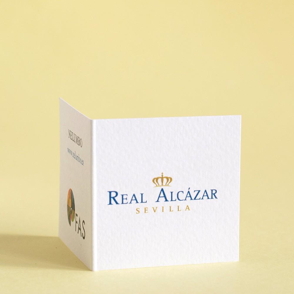 etiqueta de marca certificada alcazar de sevilla para pulsera rombo inspirada en el real alcazar de sevilla