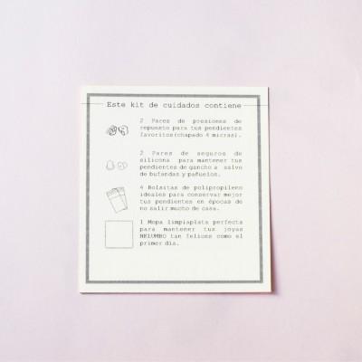 tarjeta regalo de kit de limpieza de joyas  cara trasera