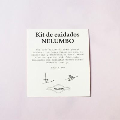 tarjeta de kit para que sepas como limpiar tus joyas plata  o bisuteria plateada