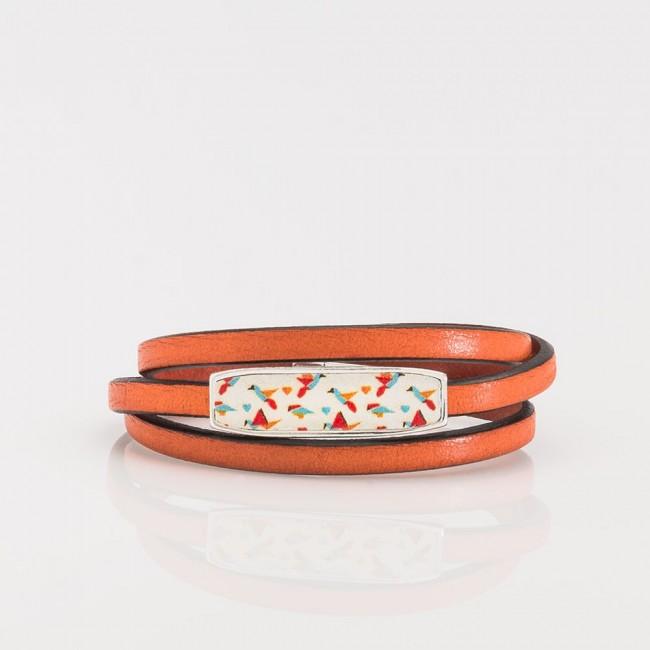 pulsera Nelumbo vueltas cuero y plata artesanía hecho en España slow fashion
