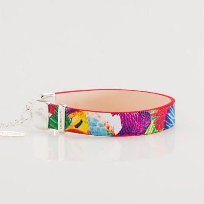 pulsera nelumbo línea trópico pulseras cuero y plata vista lateral